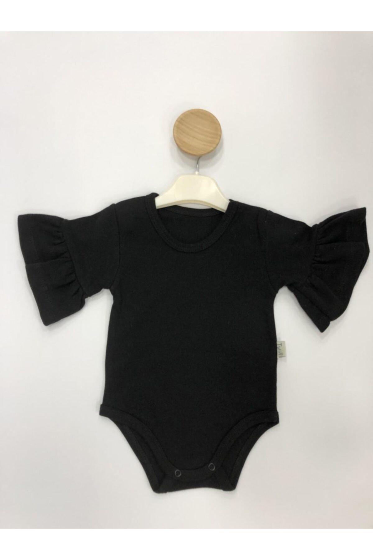 BABY'S TWİN Ispanyol Kız Body Siyah 1