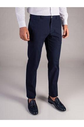 Dufy Lacivert Düz Erkek Pantolon - Regular Fit