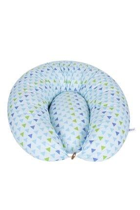 Sevi Bebe Yastıklı Anne Bebek Emzirme Minderi Art-579 Mavi Üçgen