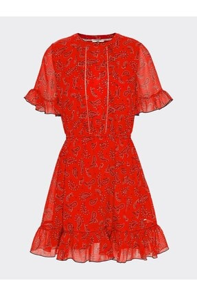 Tommy Hilfiger Tjw Frıll Hem Shortsleeve Dress