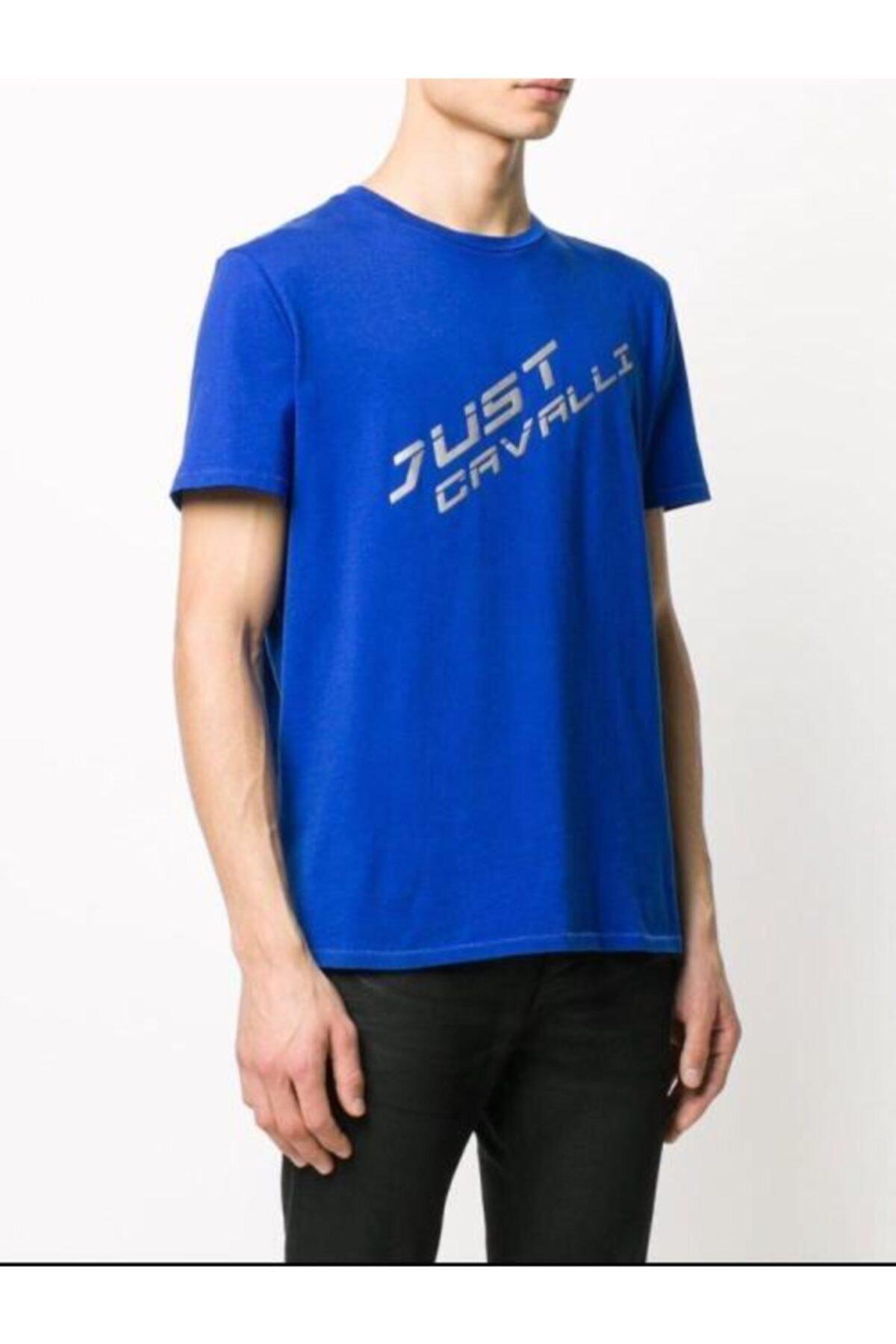 Just Cavalli Reflektör Baskı T-shirt 2