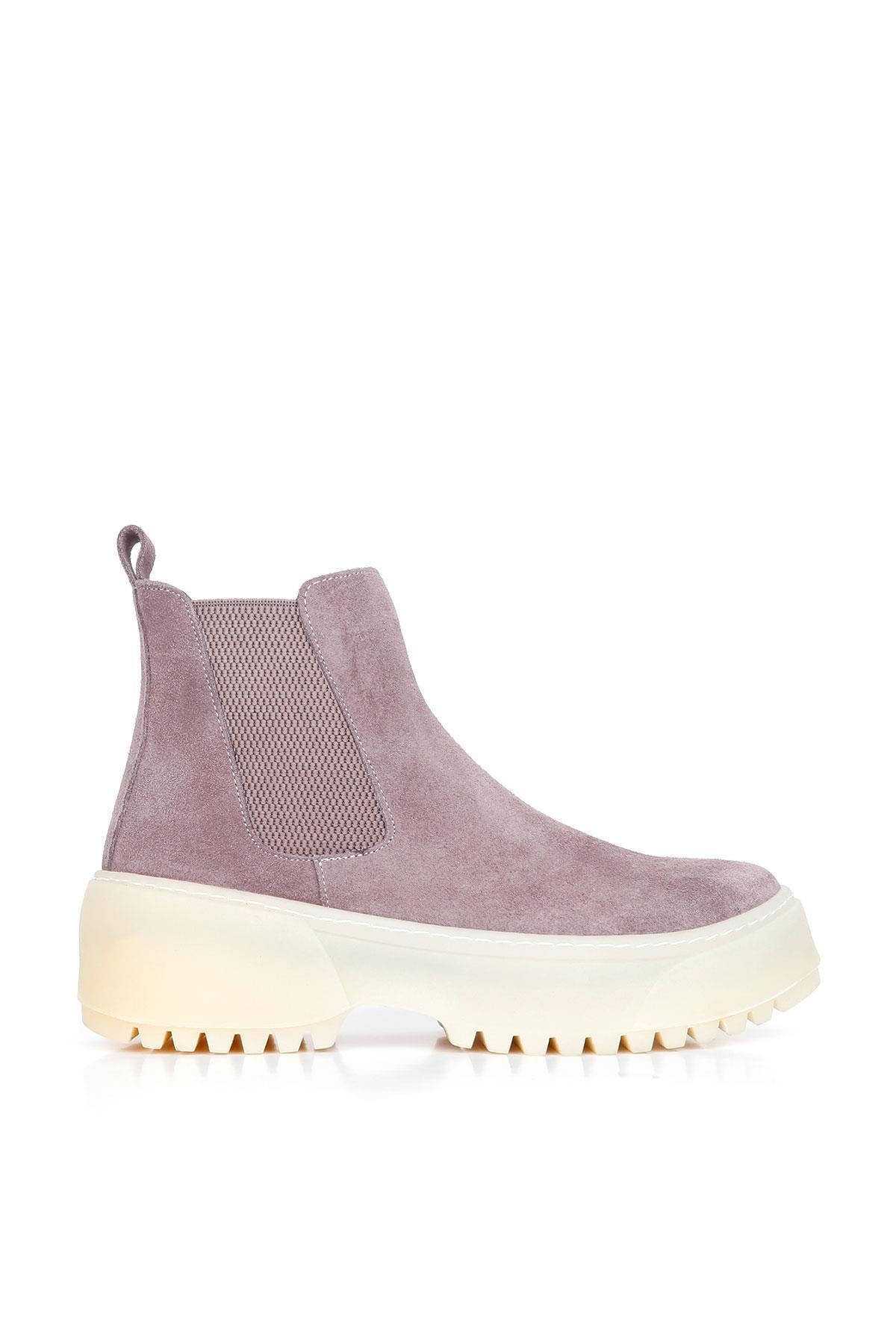 BUENO Shoes Hakiki Deri Kadın Dolgu Topuk Bot 01wr4701 1