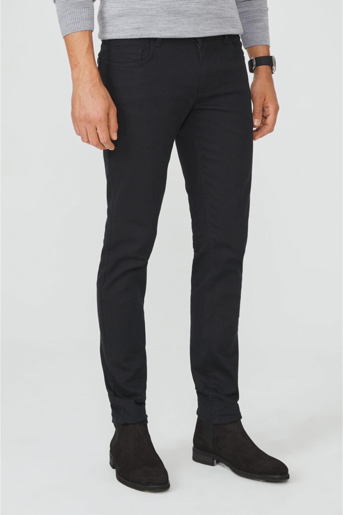 Avva Erkek Siyah 5 Cepli Slim Fit Pantolon A02y3055 1