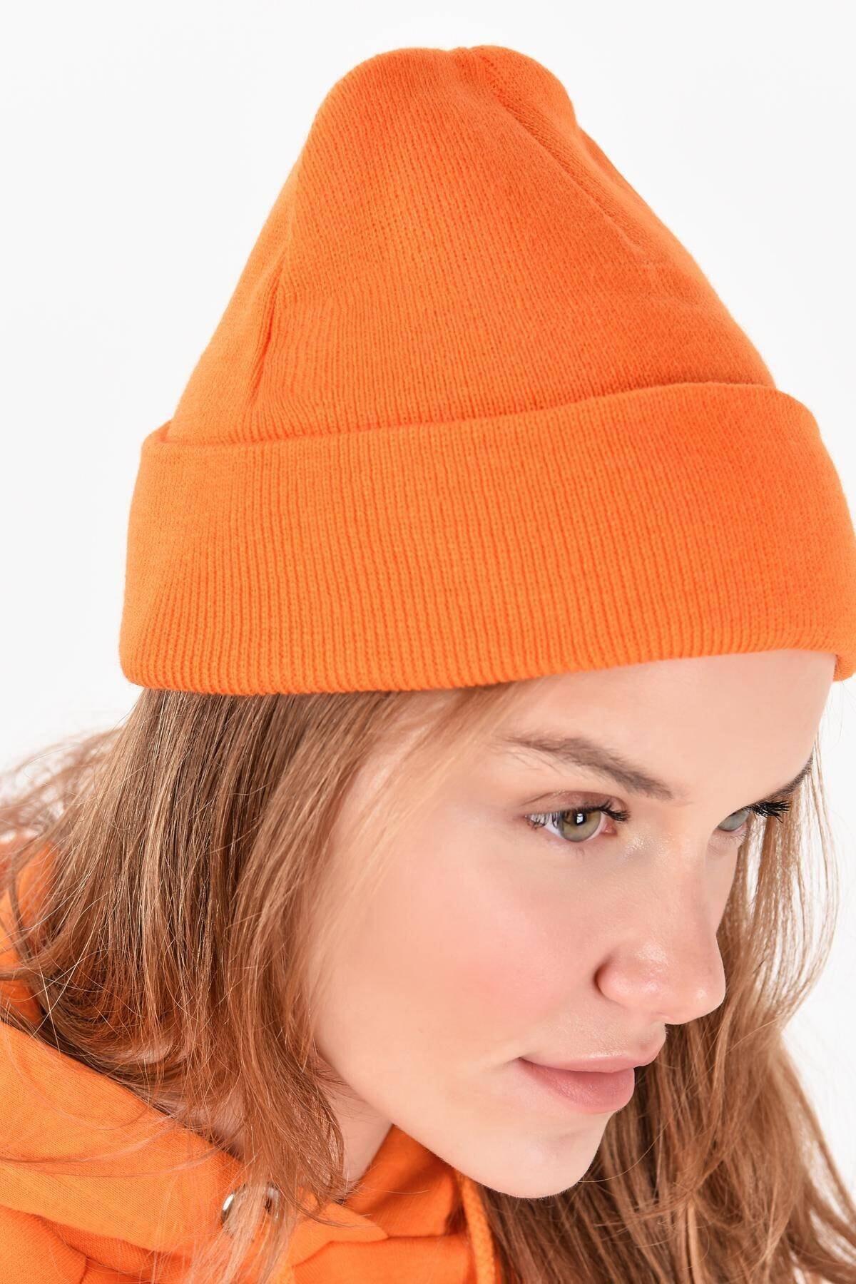 Addax Kadın Turuncu Şapka Şpk12835 - Aks -e5 ADX-0000020470 2