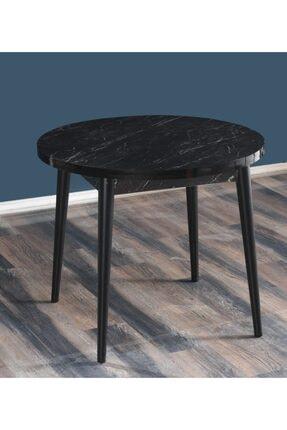 MYMASSA - Q90 Bendir Yuvarlak Balkon Masası Cafe Masası