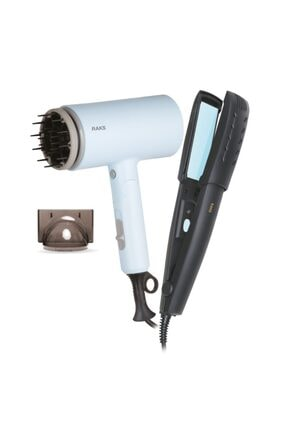 Raks Leona Mavi Profesyonel Saç Kurutma Makinesi Ve Saç Düzleştiricisi