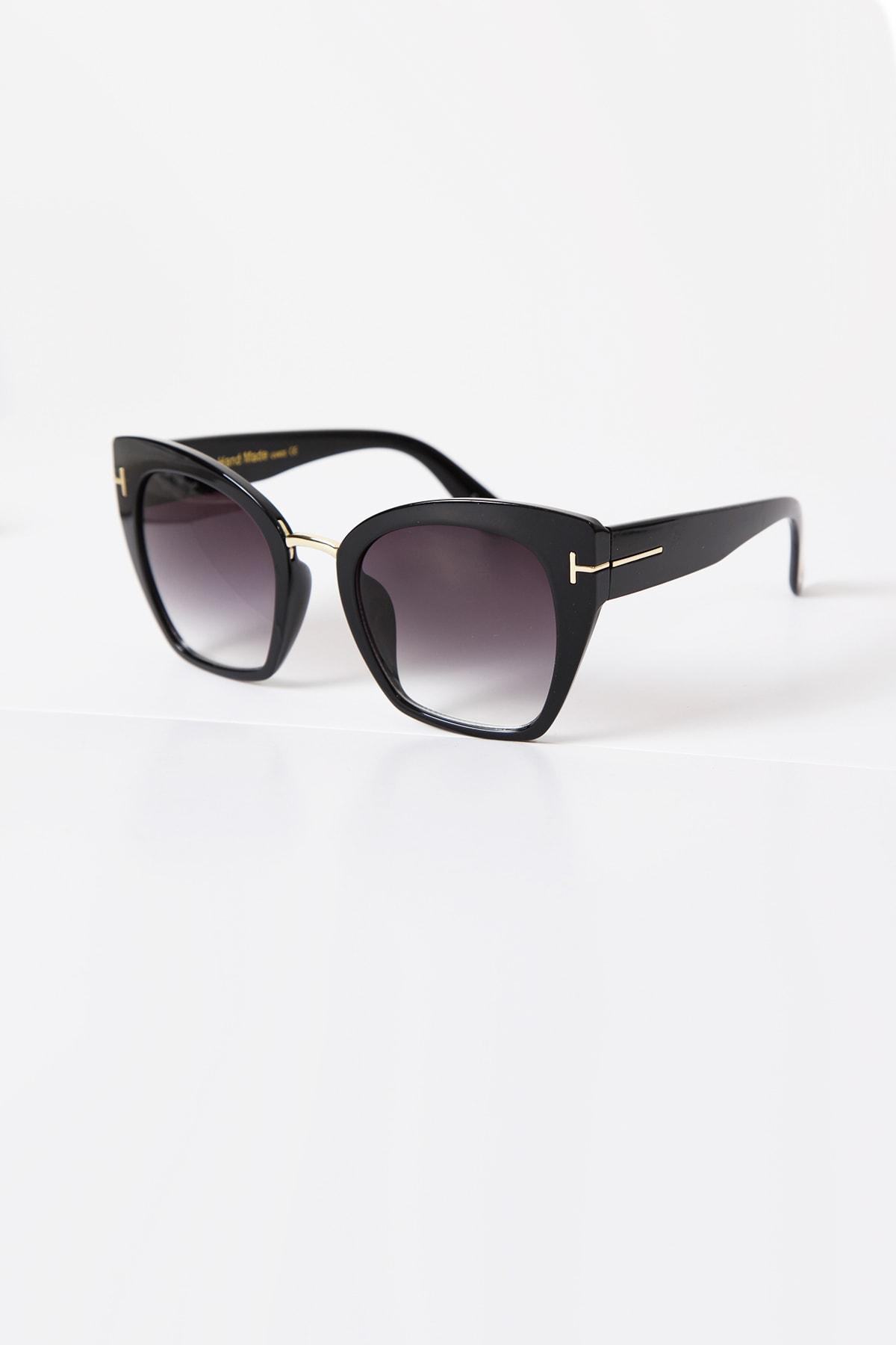 Kapin T Tasarım Siyah Güneş Gözlüğü 2