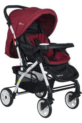 Baby Force Secret Çift Yönlü Bebek Arabası Kırmızı