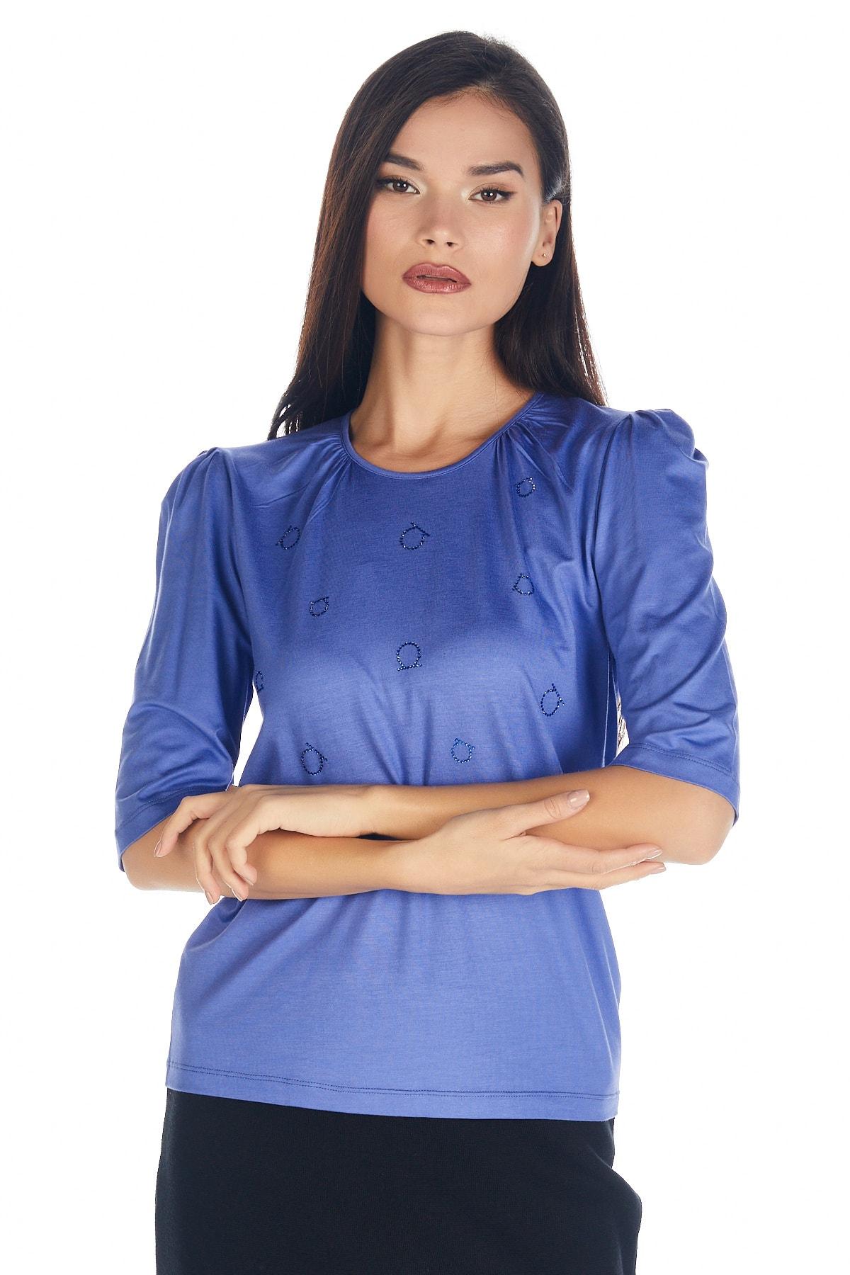 Solo Kadın Hotfix Viskoz-abiye T-shirt-bluz 2
