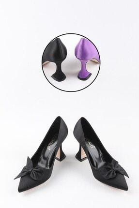Buffalo Marjolaina Kadın Siyah Topuklu Ayakkabi