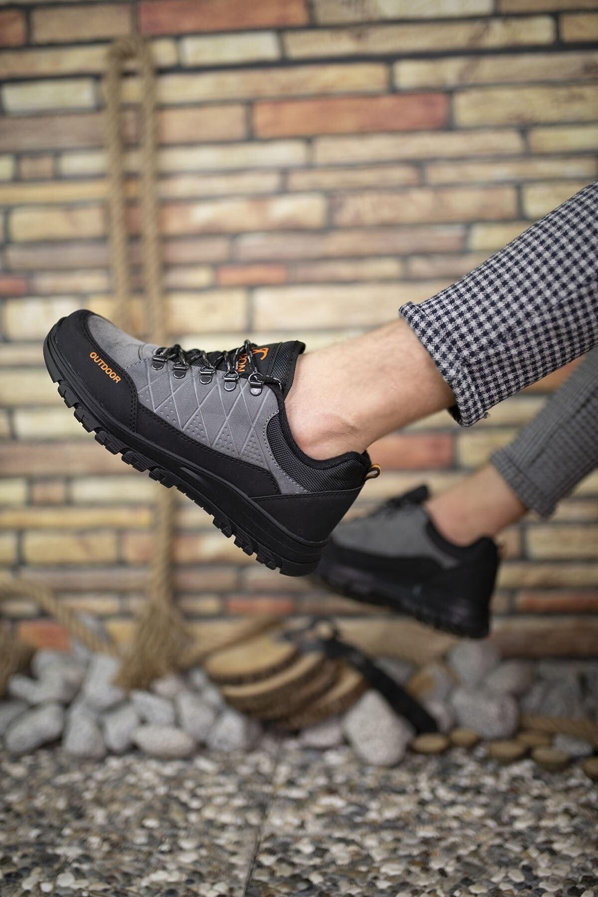 Riccon Füme Siyah Erkek Trekking Ayakkabı 0012114 2