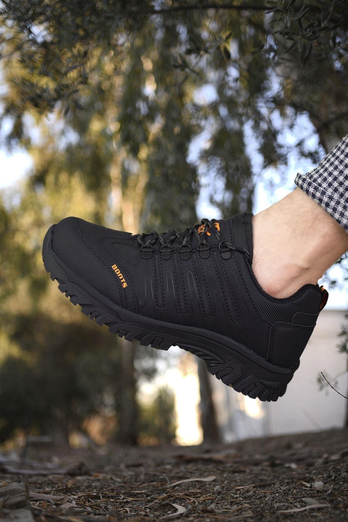 Riccon Siyah Siyah Erkek Trekking Ayakkabı 0012115 1