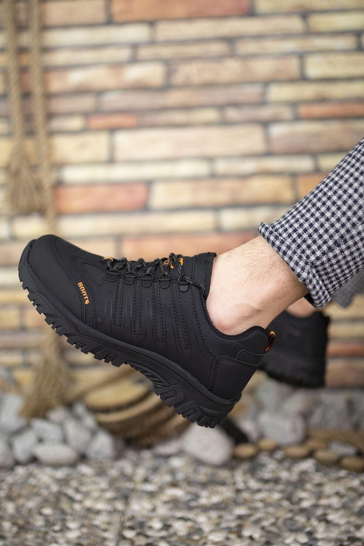 Riccon Siyah Siyah Erkek Trekking Ayakkabı 0012115 2