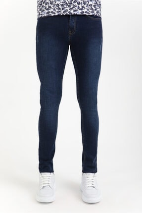 Avva Erkek Lacivert Slim Fit Jean Pantolon A01y3571