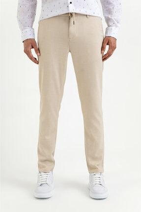 Avva Erkek Bej Yandan Cepli Mikro Desenli Slim Fit Pantolon A01y3023