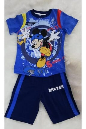 Disney Mickey Mouse Disney Mıckey Mause Yazlık Erkek Çocuk Pijama Takımı