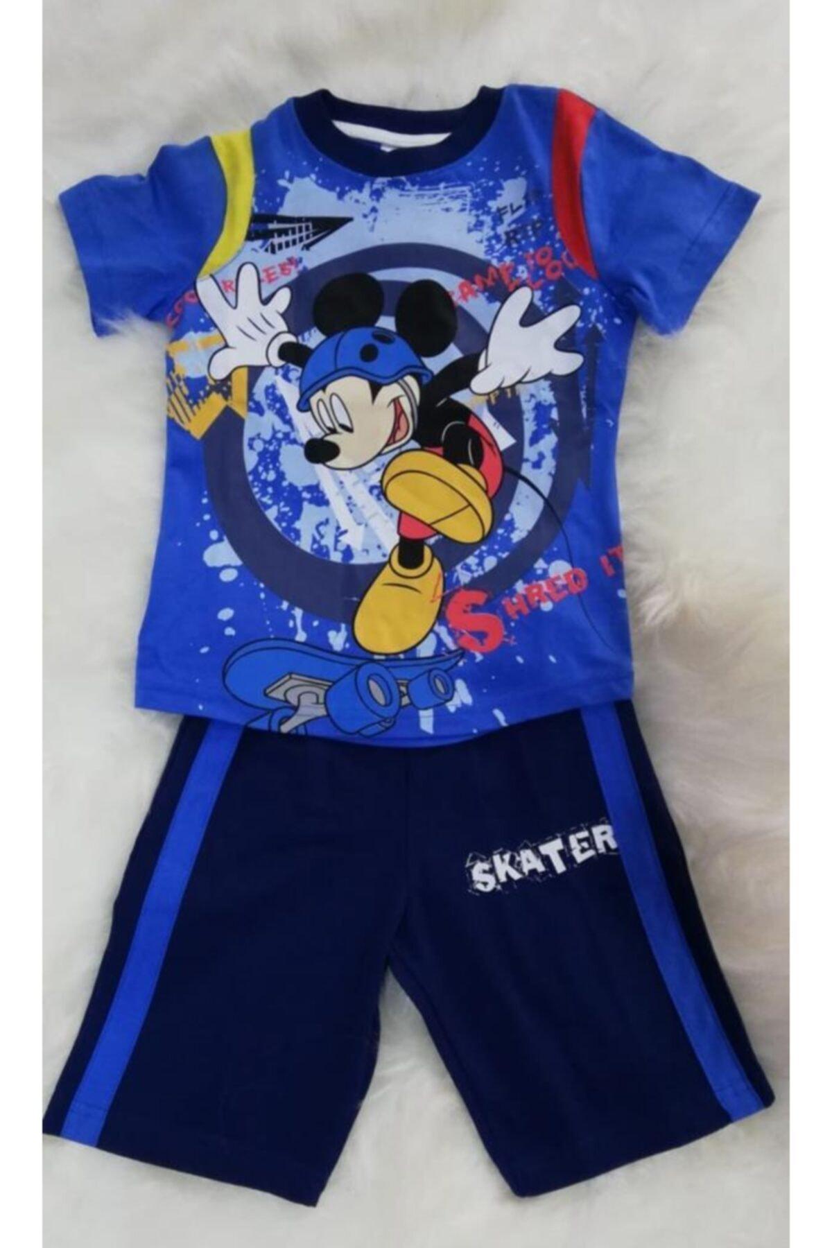 Disney Mickey Mouse Disney Mıckey Mause Yazlık Erkek Çocuk Pijama Takımı 1