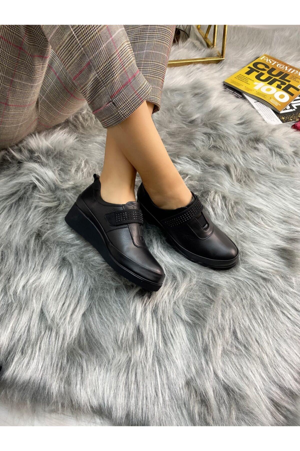 Ülkü Yaman Collection Hakiki Deri Günlük Comfort Ayakkabı 2