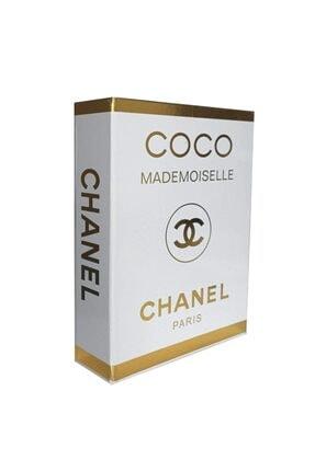 Techno phone Dekoratif Gold Varaklı Coco Mademoıselle Chanel Kutu 27x19x4 Cm