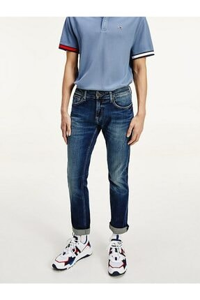 Tommy Hilfiger Erkek Th Scanton Slim Denim Pantolon