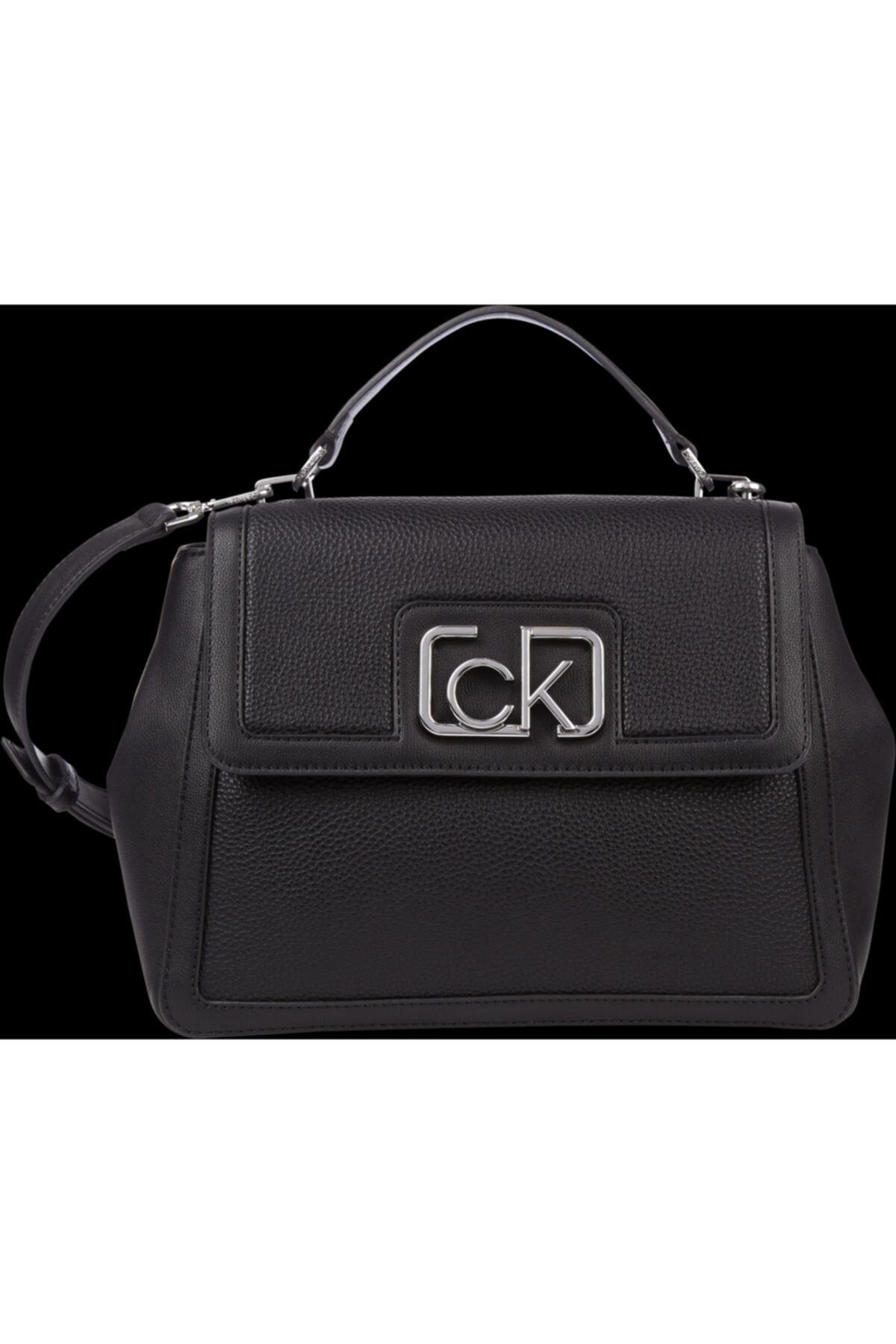 Calvin Klein Kadın Siyah Singanture Mini Omuz Çantası 1