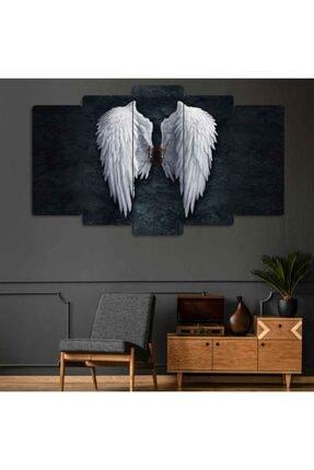 Evonya Melek Kanadı 5 Parçalı Dekoratif Tablo