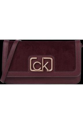 Calvin Klein Kadın Bordo Clutch Çanta