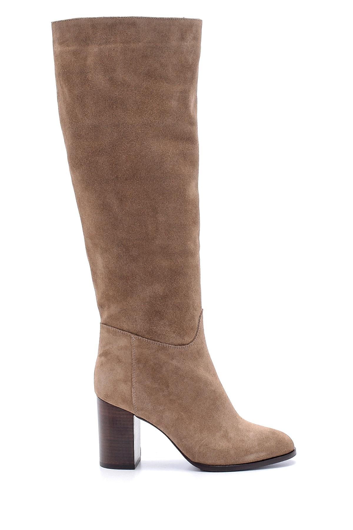 Derimod Kadın Süet Topuklu Çizme 1