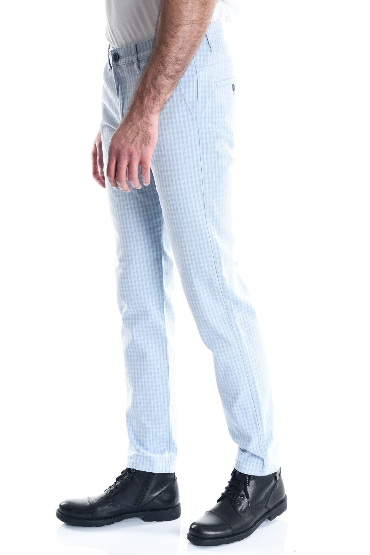 LTC Jeans Ekose Buz Mavi Slimfit Erkek Pantolon 2