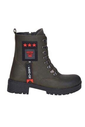 MP 202-1645 Zn Haki Kışlık Bayan Bot Ayakkabı