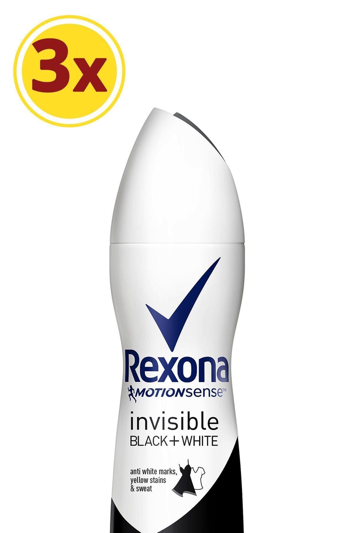Rexona Kadın Deodorant Sprey Invisible Black + White 150 ml X3 1