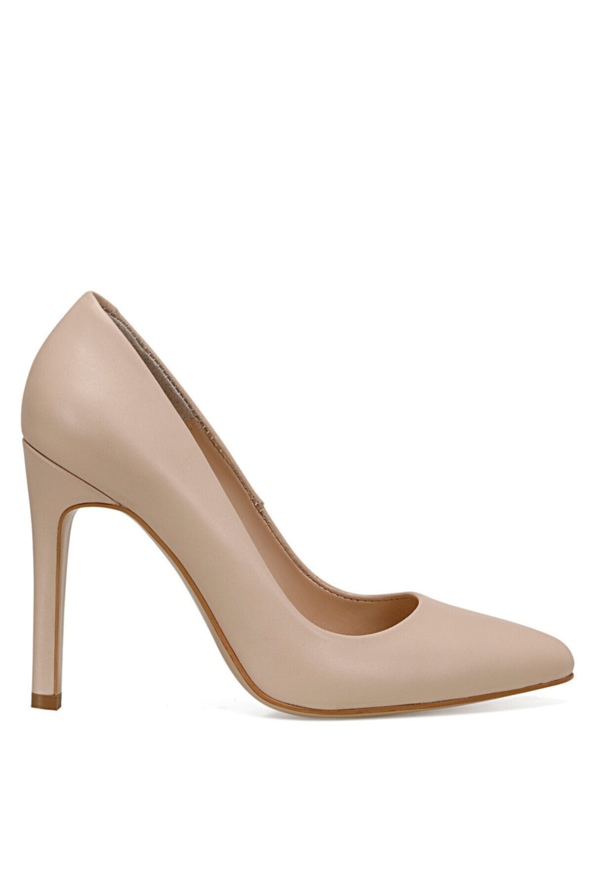 Nine West FRONTA Naturel Kadın Hakiki Deri Topuklu Ayakkabı 100526434 1