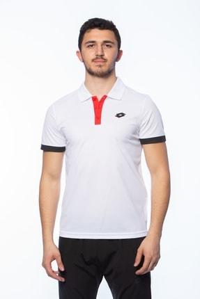 Lotto Polo T-shirt Erkek Beyaz Ralı Polo Pl-r9761