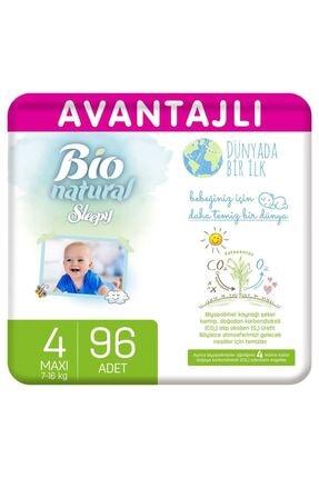Sleepy Bio Natural Avantajlı Bebek Bezi 4 Numara Maxi 96 Adet
