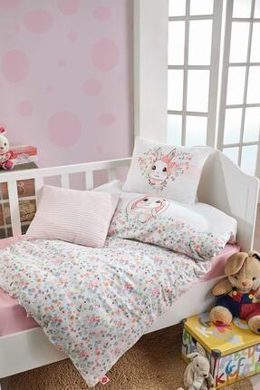 Cotton Box Kız Bebek Pembe Nevresim Takımı Bunny