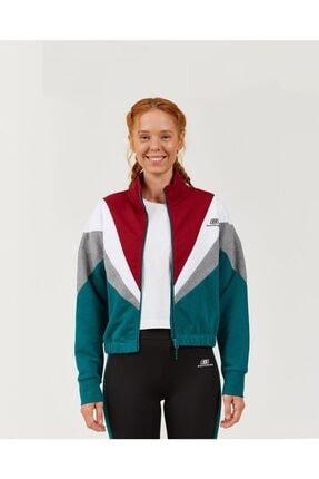 SKECHERS High Vibes 2 W Colorblock Fleece Jacket Kadın Storm Fermuarlı Eşofman Üstü