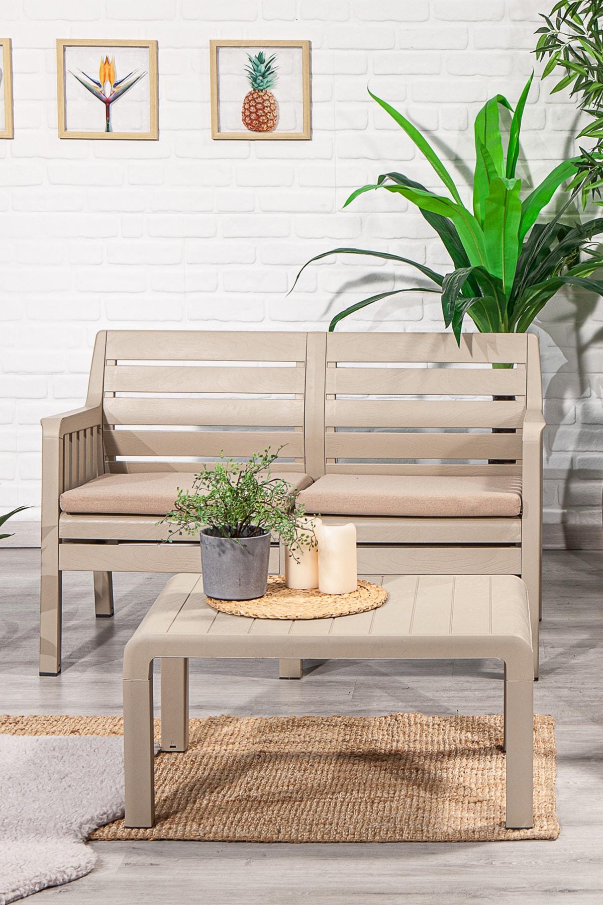 SANDALİE Lara 2 1 1 S Balkon&teras Bahçe Mobilyası / Cappucino 2