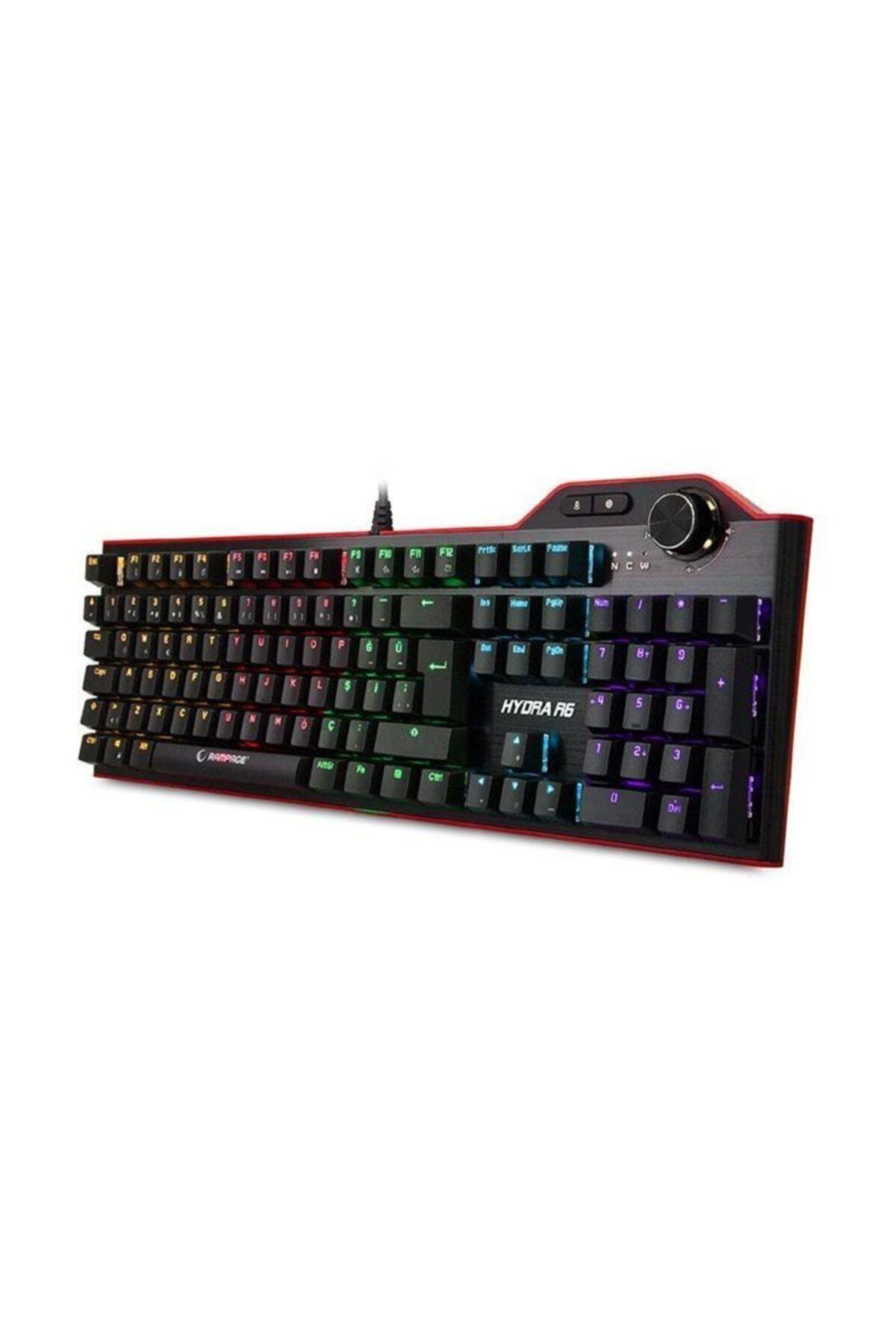 Everest Rampage Hydra R6 Full Color Rgb Led Gaming Pro Blue Switch Aluminyum Kaplama Multimedia Klavye 2