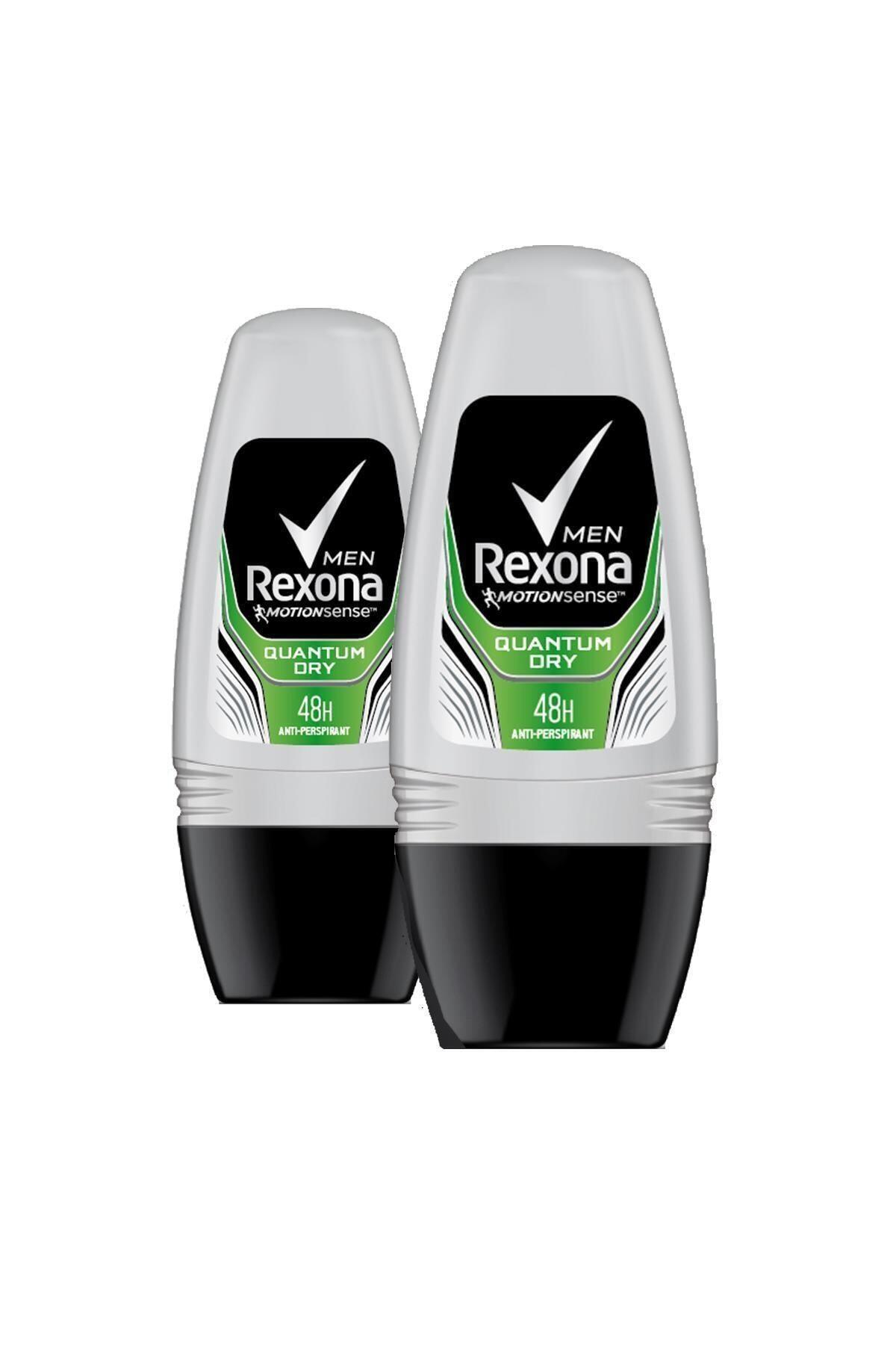 Rexona Erkek Quantum Dry 50 ml Deodorant Roll On x2 1