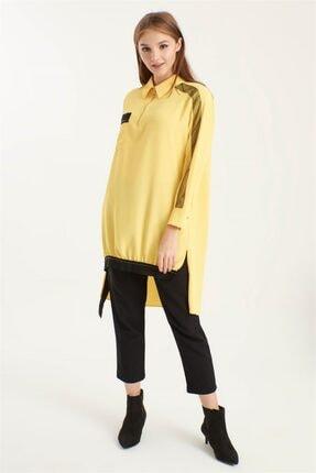 Zühre Ribana Detaylı Tunik Sarı T-0766