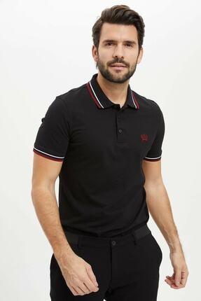 DeFacto Erkek Siyah Basic Polo T-shirt
