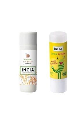 Incia Lip Balm Orange 6 gr 1 Adet - Kids Lemon 1 Adet 1 Alana 1 Bedava