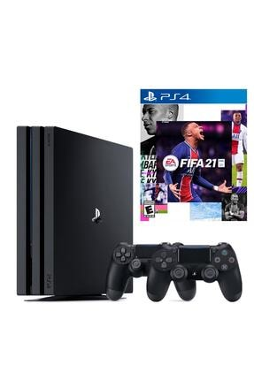 Sony Playstation 4 Pro 1 TB + 2. PS4 Kol + PS4 Fifa 2021
