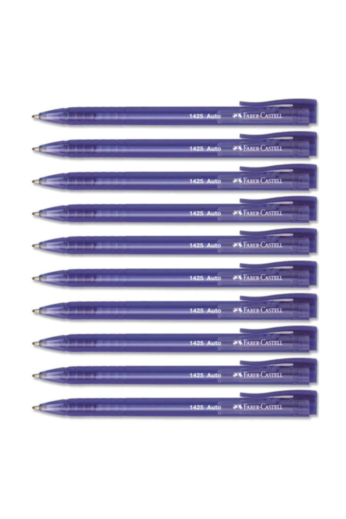 Faber Castell Mavi Tükenmez Kalem 10'lu Kutu 1