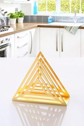 Manor Altın Kaplama Lüx Metal Peçetelik