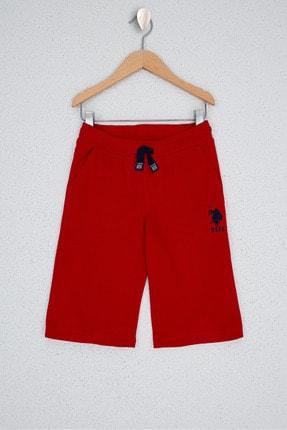 U.S. Polo Assn. Kirmizi Erkek Çocuk Orme Capri Bermuda