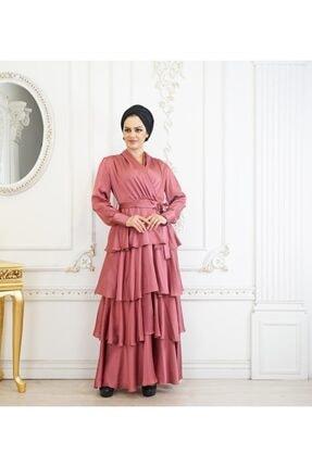MAHRA TESETTUR Kadın  Kruvaze Yaka Abiye Elbise