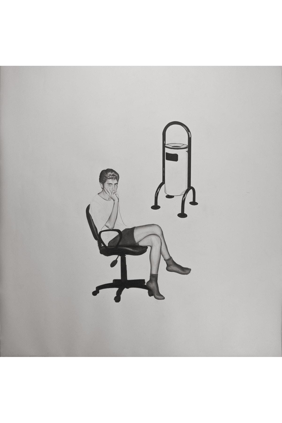 Mustafa Bağcı Isimsizx4, 150x140, Kâğıt Üzerine Kurşun Kalem ve Marker 1
