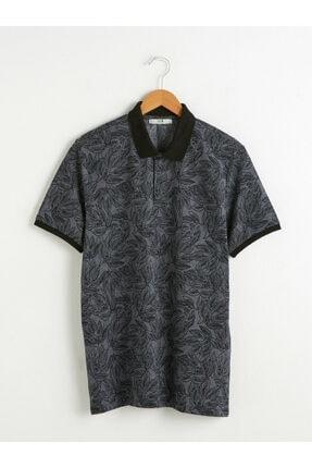 LC Waikiki Erkek Gri Yakalı Tişört
