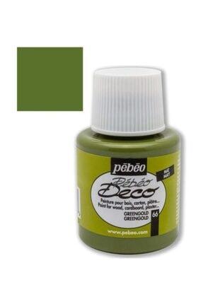 Pebeo Deco Su Bazlı Akrilik Ahşap Boyası 110ml 66 Green Gold